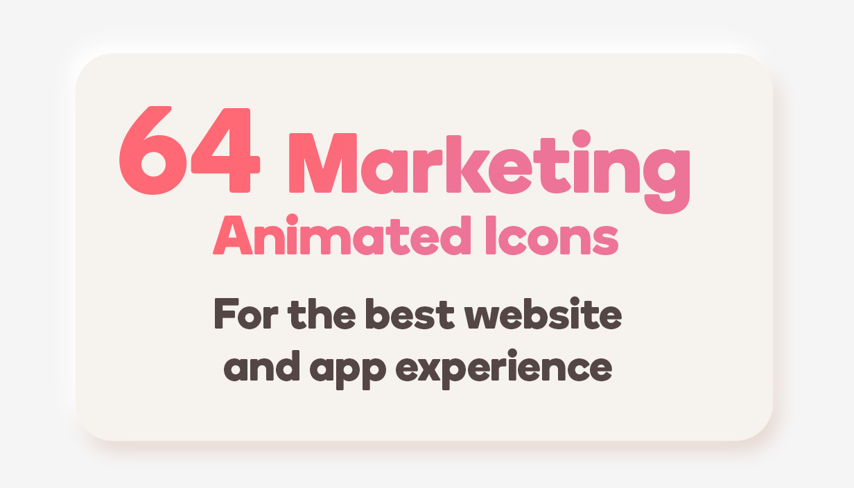 Marketing Animated Icons Set - Wordpress Lottie JSON SVG - 1