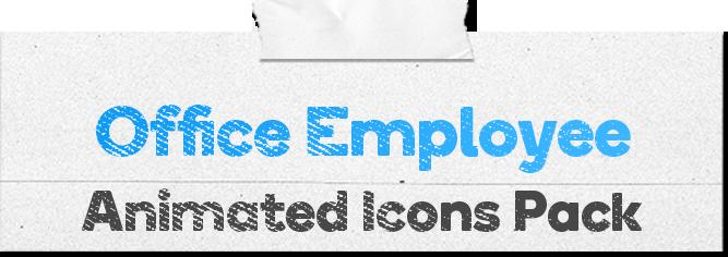 Office Employee Animated Icons Pack - Wordpress Lottie Json Animation SVG - 1