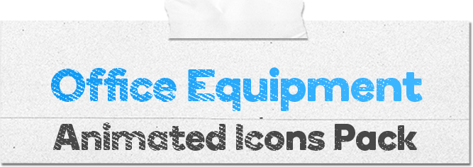 Office Equipment Animated Icons Pack - Wordpress Lottie Json Animation SVG - 1