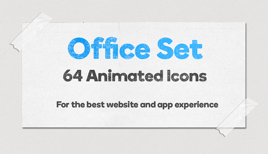 Office Animated Icons Set - Wordpress Lottie JSON SVG - 1