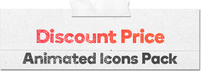 Discount Price 16 Animated Icons Pack - Wordpress Lottie Json Animation SVG - 1