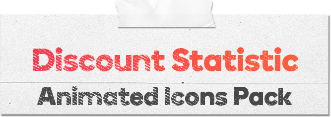 Discount Statistic 16 Animated Icons Pack - Wordpress Lottie Json Animation SVG - 1
